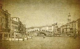 Vintage image of Grand Canal, Venice Royalty Free Stock Image