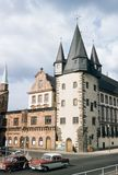 Vintage 1957 Image of the Historical Museum in Frankfurt, Germany stock photos