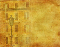 Vintage image of house in Rome Stock Photography