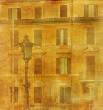 Vintage image of house in Rome Royalty Free Stock Images