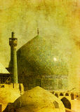 Vintage image of imam mosque Royalty Free Stock Photos