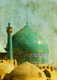 Vintage image of imam mosque, Stock Photos