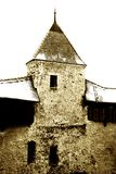 Vintage image of medieval Castle Tower Stock Images