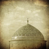 Vintage image of Mosque in ancient city of Yazd Stock Photo