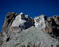 Vintage 1955 image of Mount Rushmore Stock Images