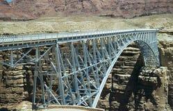 Vintage image of the Navajo Bridge in Marble Canyon, AZ stock image