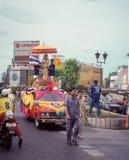 Vintage image of Parade for Independence, Bangkok, Thailand Royalty Free Stock Photos