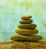 Vintage image of pebble stack Royalty Free Stock Photos