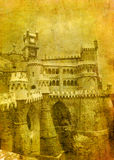 Vintage image of pena palace Royalty Free Stock Images