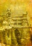 Vintage image of pena palace stock illustration