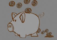 Piggy bank vintage Royalty Free Stock Image