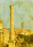 Vintage image of roman ruins Royalty Free Stock Photo