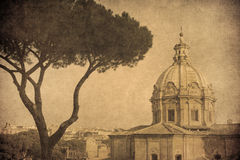Vintage image of Rome, Italy Royalty Free Stock Photos