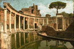 Villa Adriana near Rome - Vintage Stock Photos