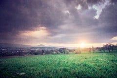 Vintage image - rural landscape 2 Stock Images