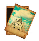 Vintage image of Sacre Coeur isolated on white Stock Photography
