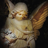 Vintage image of a sad angel on a cemetery Stock Photos