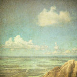 Vintage image of the sea and cloudy sky Stock Photography