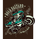Vintage image of sport motorbike Stock Photo