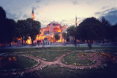 Vintage image of St. Sophia (Hagia Sophia) church. In Istanbul, Turkey Stock Photography
