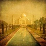 Vintage image of Taj Mahal, Agra, India Royalty Free Stock Photography