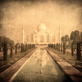 Vintage image of Taj Mahal, Agra, India Royalty Free Stock Image