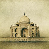 Vintage image of Taj Mahal at sunrise, Agra, India Stock Photos