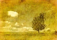 Vintage image of tree Stock Image