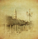 Vintage image of Venice, Italy Stock Photos
