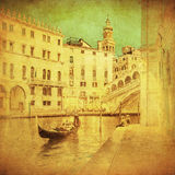 Vintage image of Venice, Italy Royalty Free Stock Photo