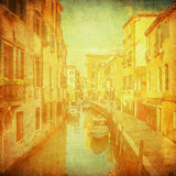 Vintage image of Venice, Italy Royalty Free Stock Images