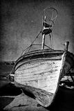 Vintage image of wreck old boat Royalty Free Stock Photography