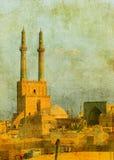 Vintage image of Yazd, Iran Royalty Free Stock Image