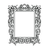 Vintage Imperial Baroque Mirror frame. Vector French Luxury rich intricate ornaments. Victorian Royal Style decor Royalty Free Stock Photography