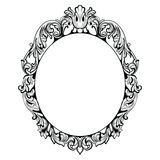 Vintage Imperial Baroque Mirror frame. Vector French Luxury rich intricate ornaments. Victorian Royal Style decor. Imperial Baroque Mirror frame. Vector French royalty free illustration