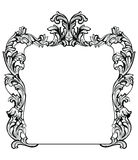 Vintage Imperial Baroque Mirror frame. Vector French Luxury rich intricate ornaments. Victorian Royal Style decor Stock Photography