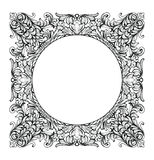 Vintage Imperial Baroque Mirror round frame. Vector French Luxury rich intricate ornaments. Victorian Royal Style decor Stock Photography