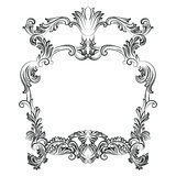 Vintage Imperial Baroque Rococo frame. Vector French Luxury rich carved ornamented decor. Victorian wealthy Style structure Royalty Free Stock Image