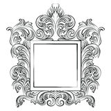 Vintage Imperial Baroque Rococo frame Royalty Free Stock Photography