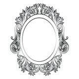Vintage Imperial Baroque Rococo frame Stock Photos