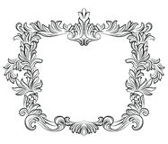 Vintage Imperial Baroque Rococo frame. Vector French Luxury rich carved ornamented Wall Frame. Victorian wealthy Style structure Royalty Free Stock Images