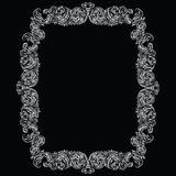 Vintage Imperial Baroque Rococo frame. Vector French Luxury rich carved ornamented Wall Frame. Victorian wealthy Style structure Royalty Free Stock Photos