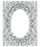 Vintage Imperial Baroque Rococo frame Royalty Free Stock Images