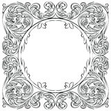 Vintage Imperial Baroque Round frame Royalty Free Stock Photos