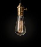 Vintage incandescent Edison type bulb Stock Image