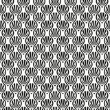 Vintage inconsútil Art Deco Shell Pattern Background Fotografía de archivo