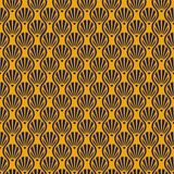 Vintage inconsútil Art Deco Shell Pattern Background Fotografía de archivo libre de regalías