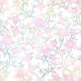 Vintage inconsútil Rose Pattern, vector, EPS10 Fotos de archivo libres de regalías