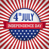 Vintage  independence day badge / poster Royalty Free Stock Image