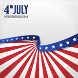 Vintage  independence day poster Stock Images